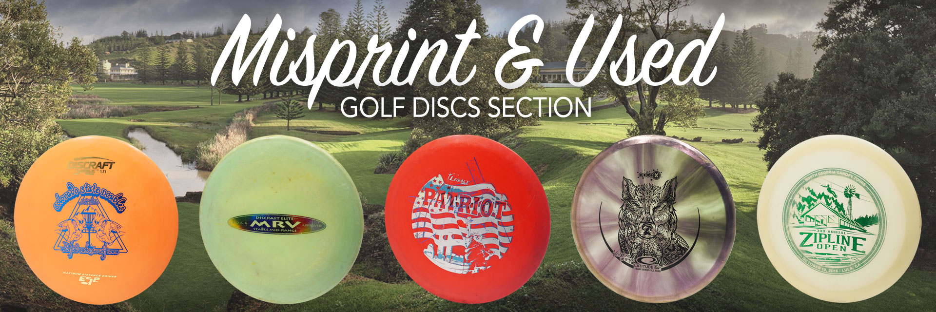 Misprint & Used Golf Discs Section