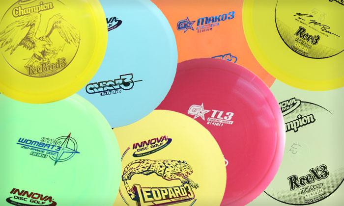 collage of various innova 3 Series golf discs