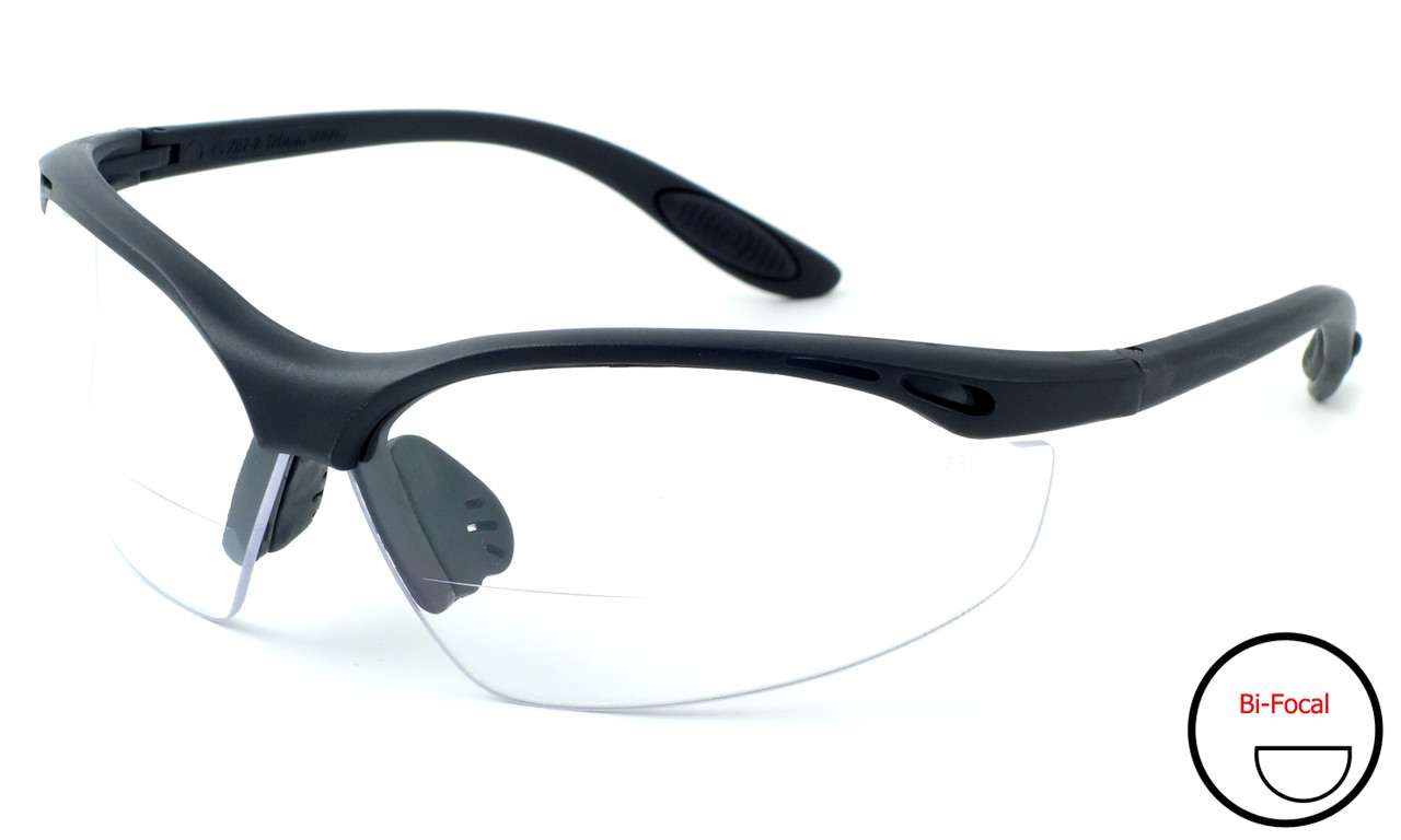 Calabria 91348 Bi-Focal Safety Glasses UV Protection in Clear