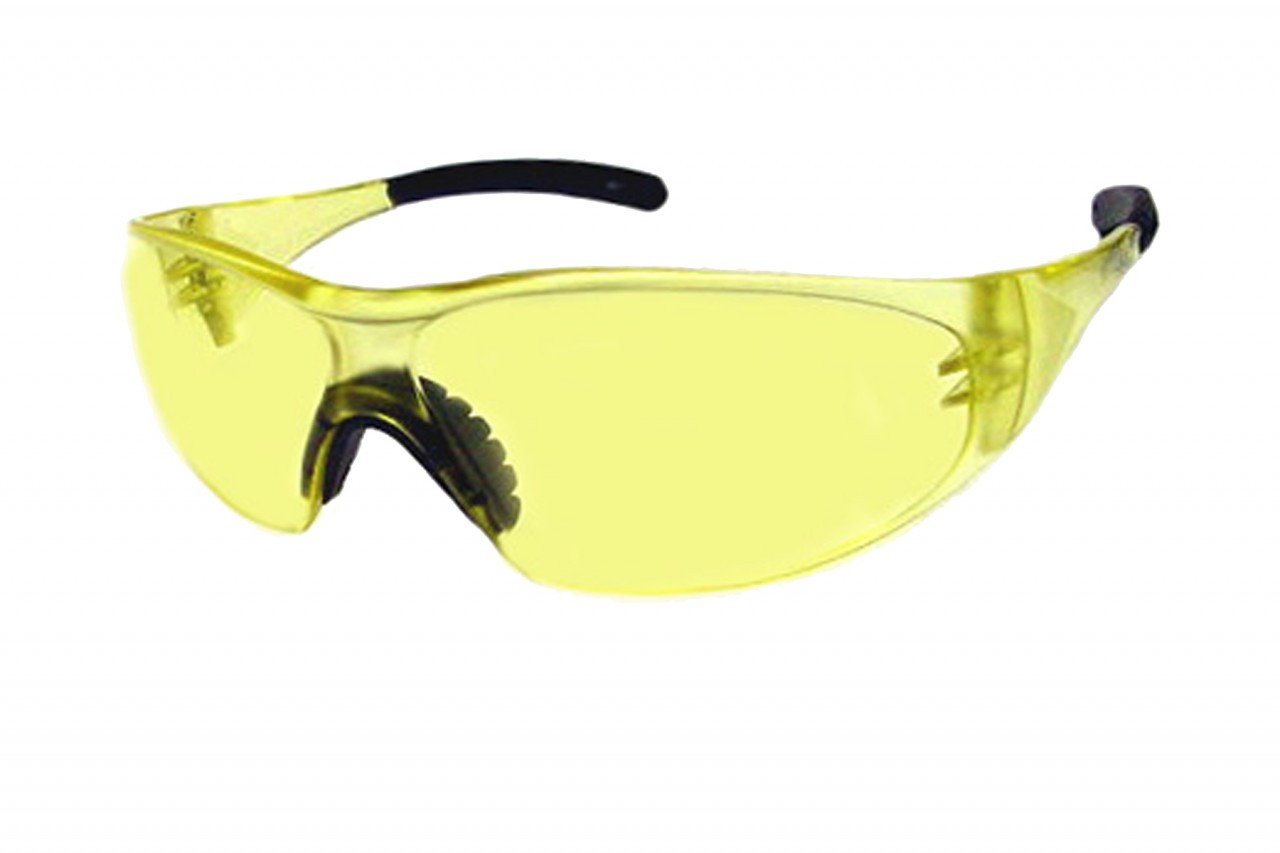 Sport Safety Glasses Z87 Safety Rated in Yellow STS-100-1
