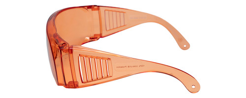 Calabria 1003 Anti Splash Safety Glasses Fitover with UV PROTECTION IN ORANGE