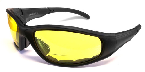 Calabria 23BF Bi-Focal Safety Glasses UV Protection in Yellow