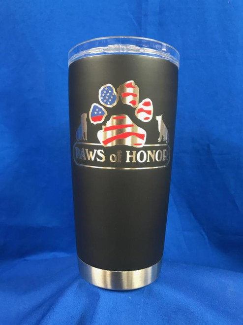 Paws of Honor 20oz Cerakote Tumbler