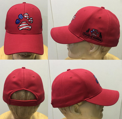 Red Paws of Honor Baseball Cap