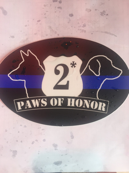 Sticker - 2* Blue Line - Paw of Honor