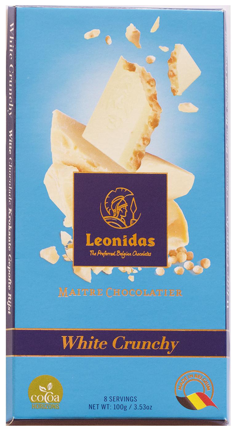 100 gram White Crunchy Belgian Chocolate Bar