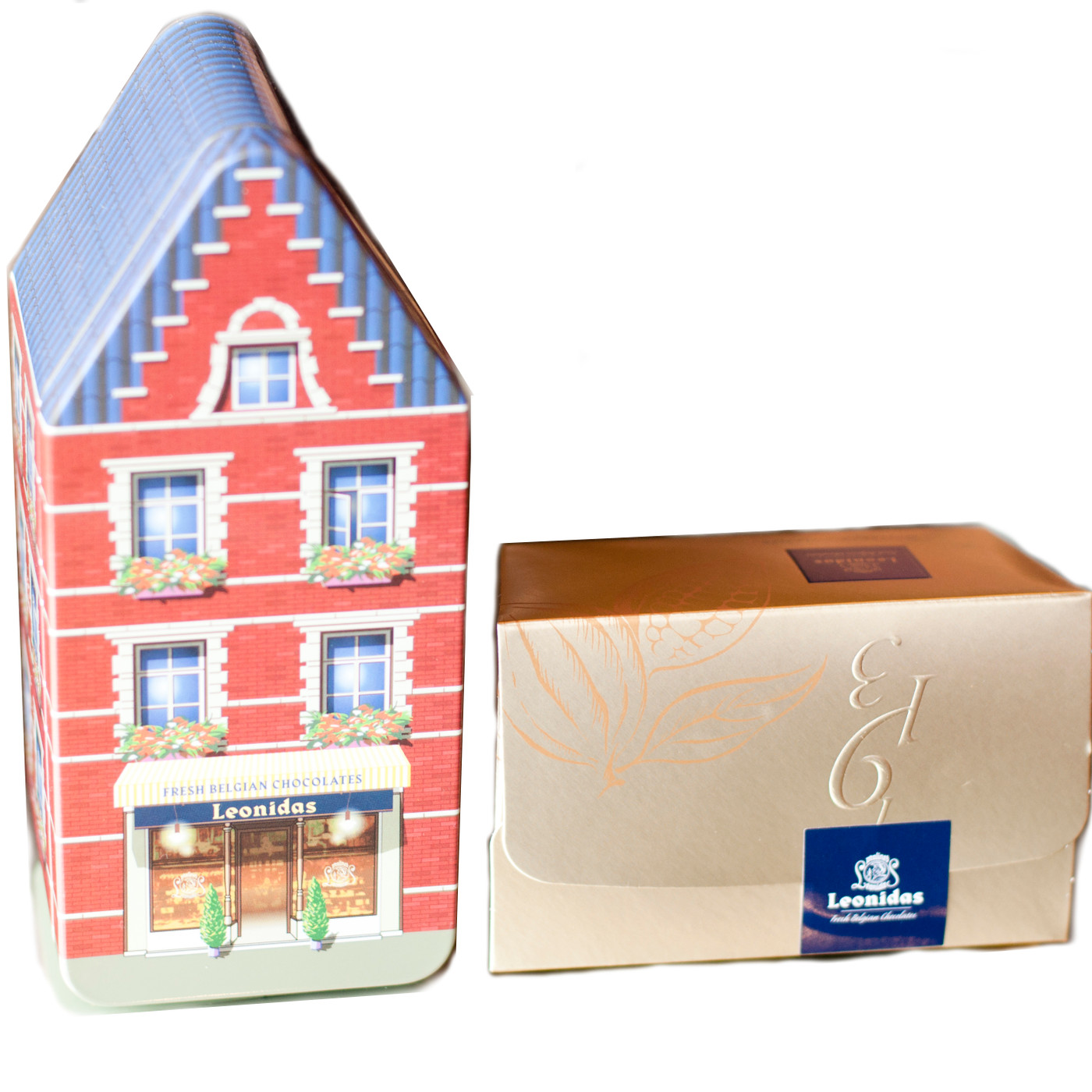 Belgian Tin House with 250g (8.8 oz) ballotin