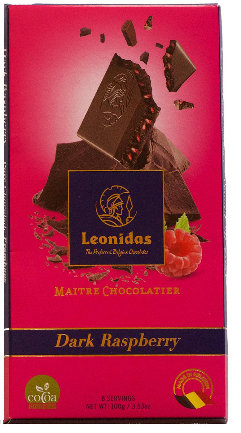 100 gram Dark Belgian Chocolate with Raspberry