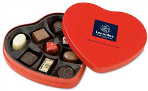 Tin Heart with 9 Chocolates