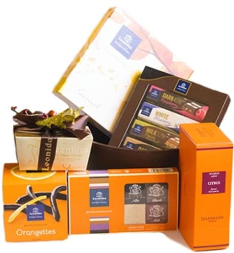 Fall Chocolate and Tea Gift Basket