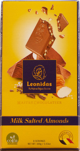 100 gram Milk Belgian Chocolate with Salted Almonds