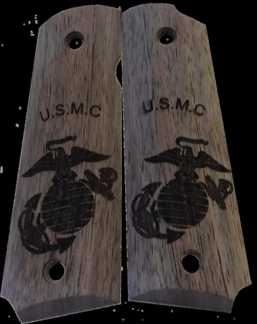 1911 Pistol Grips USMC Engraved