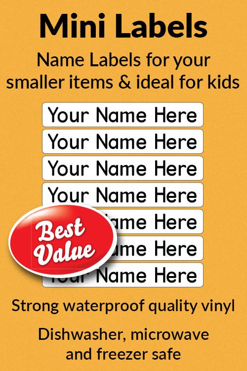 Stick On Mini Labels