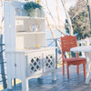Pine Outdoor Hutch in the Companion Collection from Uwharrie Chair Company in White with Chair