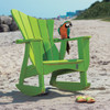 Pine Rocker in the Wave Collection from Uwharrie Chair Company in Lime