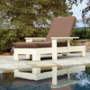Pine Adjustable Lounge Chair in the Chat Collection from Uwharrie Chair Company in White, Upright