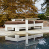 Outdoor Adjustable Chaise Lounge in The Uwharrie Chair Chat Collection, Eco-Friendly Furniture in White, Flat