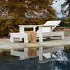 Outdoor Adjustable Chaise Lounge in The Uwharrie Chair Chat Collection, Eco-Friendly Furniture in White, No Cushions