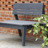 Pine Two-Seat Bench with Back in the Behren's Collection from Uwharrie Chair Company in Black