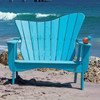 Pine Settee in the Wave Collection from Uwharrie Chair Company In B.T. Aqua
