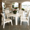 """48"""" Polymer Dining Table in the Behren's Collection from Uwharrie Chair Company in White"""