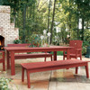 """85"""" Polymer Dining Table in the Behren's Collection from Uwharrie Chair Company in Rustic Red"""