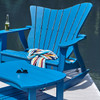 Pine Settee Rocker in the Wave Collection from Uwharrie Chair Company In Caribbean Blue