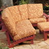 Pine Sectional Side Unit Chair in the Chat Collection from Uwharrie Chair Company In Rustic Red