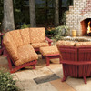 Pine Sectional Side Unit Chair in the Chat Collection from Uwharrie Chair Company On A Patio