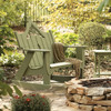 Polymer Settee Rocker in the Veranda Collection from Uwharrie Chair Company In Apple Green