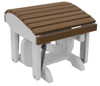 Harbor Collection Ottoman - Antique Mahogany and White