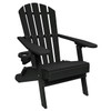 Outer Banks Value Line Adirondack Chair - Black