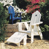 Pine Adirondack Style Chair from Uwharrie Chair On Patio