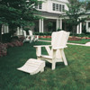 Pine Foot Rest in the Plantation Collection from Uwharrie Chair Company in White with Adirondack-Style Chair