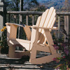 Pine Rocker in the Fanback Collection from Uwharrie Chair Company in Butter