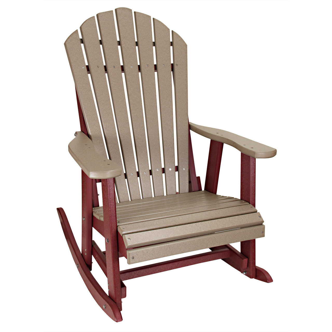 Fantastic Outer Banks Deluxe Poly Lumber Adirondack Rocking Chair Machost Co Dining Chair Design Ideas Machostcouk