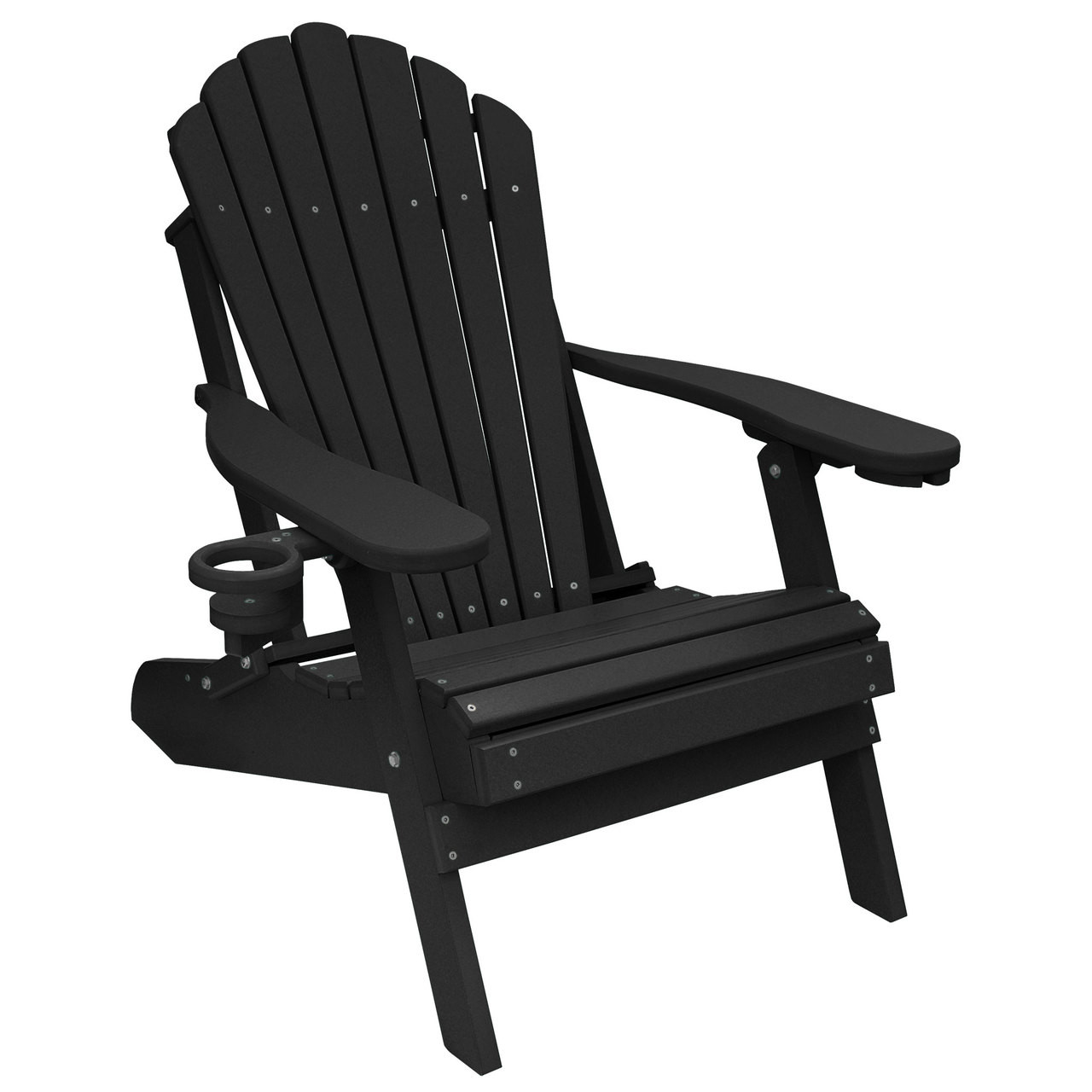 Deluxe Oversized Poly Lumber Folding Adirondack Chair With