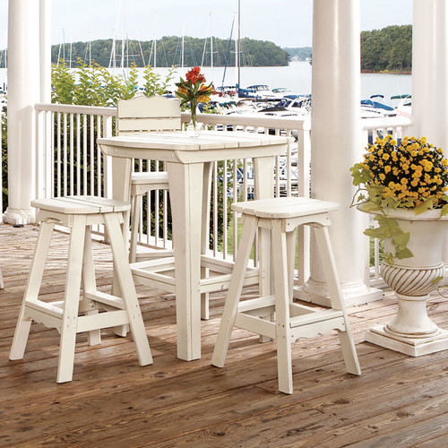 Outdoor Pine Bar Table in the Companion Collection from Uwharrie Chair Company in White