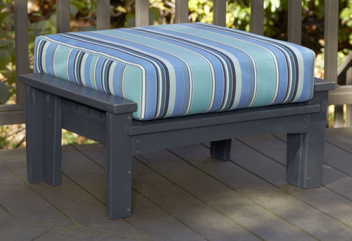 Pine Leg Rest in the Chat Collection from Uwharrie Chair Company with Custom Cushion