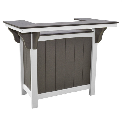 Lake Shore Collection Poly Lumber Bar - Dark Gray / White