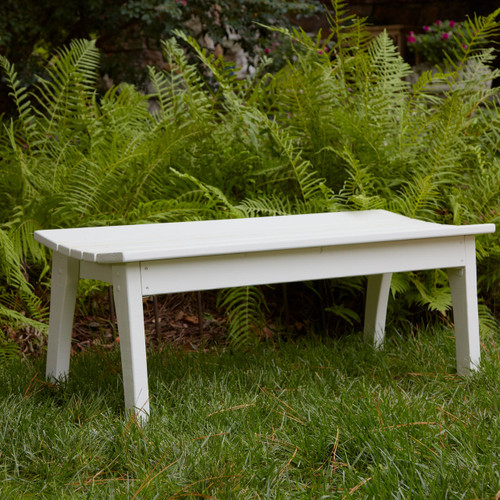 Polymer Two Seat Bench in the Behren's Collection from Uwharrie Chair Company in White