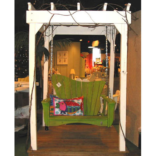Polymer Swing in the Wave Collection from Uwharrie Chair Company In Lime