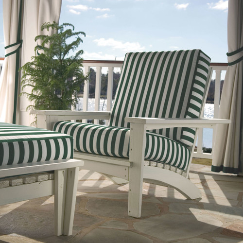 Pine Adirondack Style Chair in the Chat Collection from Uwharrie Chair Company In White