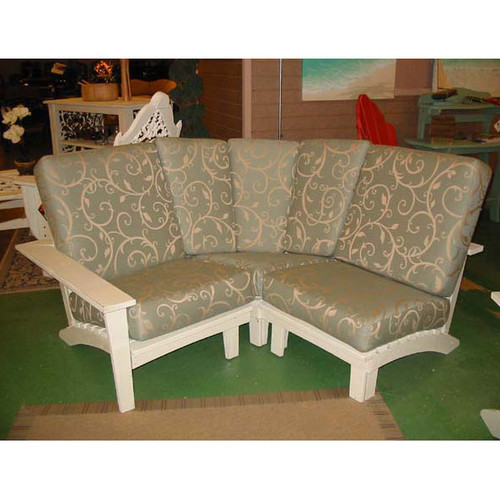 Pine Sectional Corner Unit in the Chat Collection from Uwharrie Chair Company In White