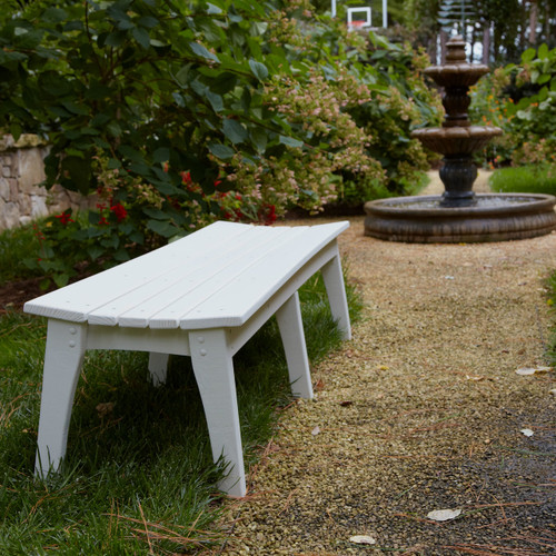 Polymer Three Seat Bench in the Behren's Collection from Uwharrie Chair Company in White