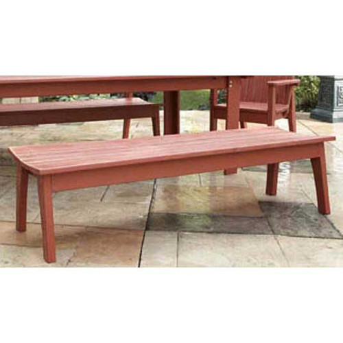 Pine Backless Four Seat Bench in the Behren's Collection from Uwharrie Chair Company in Rustic Red