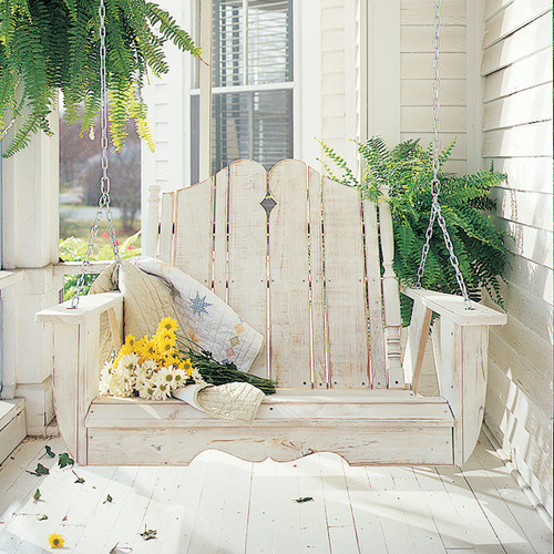 Pine Swing in the Nantucket Collection from Uwharrie Chair Company In White Wash