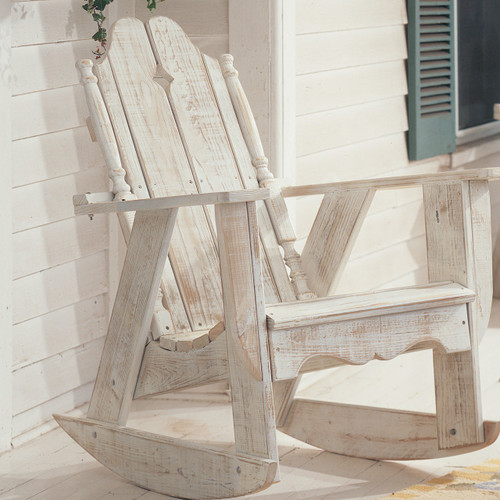 Pine Rocker in the Nantucket Collection from Uwharrie Chair Company in White