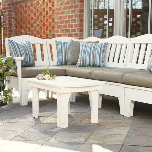 Pine Sectional Arm Unit in the Westport Collection from Uwharrie Chair Company in White with Custom Cushions