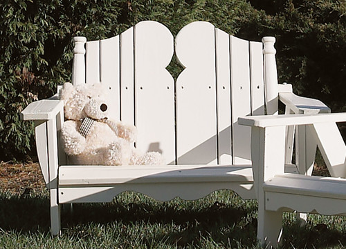 Pine Kid's Two-Seater in the Nantucket Collection from Uwharrie Chair Company In White
